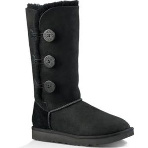Ugg Bailey Tall Button Triplet Boots in Black